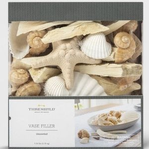 THRESHOLD Unscented Vase Filler Seashells and Sand